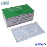 Máscara protetora não tecida descartável livre do látex azul de 3 dobras