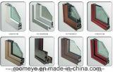 Portello di vetro della stoffa per tendine di alluminio bianca del balcone di standard europeo con la griglia della decorazione (ACD-026)