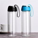 kundenspezifische Glas-Wasserflasche des Borosilicats 300ML mit Edelstahlfilter