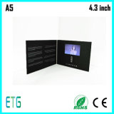 두꺼운 표지의 책 다중 단추를 가진 영상 LCD 카드 브로셔