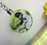 Anello chiave di cristallo su ordinazione con le foto di stampa