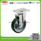 100mm PU-Rad-mittlere industrielle Hochleistungsfußrolle (P155-46FB100X40S)