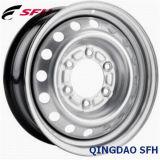 Серебряный стальной обод колеса для легковых автомобилей (15X6)