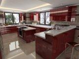 رفاهيّة مطبخ صنع وفقا لطلب الزّبون عادية لمعان طلاء لّك [كيتشن كبينت]