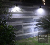 Solar exterior impermeable de pared de luz LED luces Sensor de movimiento del radar