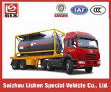腐食性のLiquid Tanker Transportation 15-20cbm Chemical Liquid Transport Container Semi Trailer