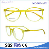 Fördernder kundenspezifischer gelber gedruckter italienischer optischer Rahmen Tr90