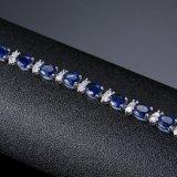 최고 인기 상품 형식 모조 구리 파란 지르콘 금 보석 팔찌