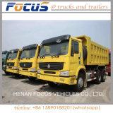최신 판매를 위한 6X4 10 짐수레꾼 371HP HOWO 팁 주는 사람 또는 쓰레기꾼 또는 덤프 트럭