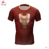 Disegno in bianco all'ingrosso di Healong con la maglietta differente del cotone di marchio