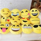 32*32cm Emoji Smiley Emoticon Yellow Roundstuffed Plush Soft Toy Pillow