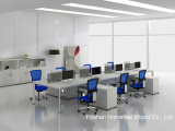 2016 modernes Linear Workstation Table mit Glass Screen Divider (HF-ELG010)