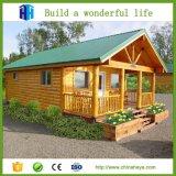 Chalet prefabricado de la luz de la casa a dos caras de la estructura de acero del bajo costo