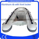 Barca di alluminio gonfiabile della nervatura di Weihai con l'armadio anteriore
