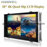 """4k 28 """" 4 HDMI 입력을%s 가진 쿼드 미끄러짐 LCD 디스플레이"""
