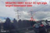Torretta della trasmissione di tangente di profilato leggero di CC di Megatro 330kv 3I2-Sj1