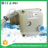 """Dn25 1 """" NSF61 2 fil DC12V 24V avec le robinet à tournant sphérique électrique motorisé par Ss304 manuel de l'eau de priorité"""