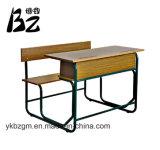두 배에 의하여 결합되는 학교 책상 및 의자 (BZ-0077)
