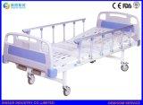 병원 가구 수동 두 배 불안정한 Aluminum-Alloy 난간 의학 간호 침대