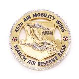 Gravação de alta qualidade Gold Loja Award Coin Badge Design de Coleta