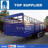 대륙간 탄도탄 3 차축 판매를 위한 평상형 트레일러 가득 차있는 말뚝 트레일러 선적 컨테이너 트레일러