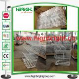 Impilamento la cremagliera del cestino del nastro metallico/del banco di mostra promozione del cestino