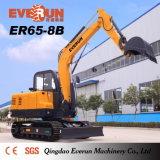 Marca Everun Er80-8b escavadora de rastos com marcação CE