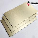 Ideabond почистило панель щеткой Foshan l Manufaturer золота серебряную алюминиевую составную