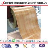 Bobina d'acciaio di colore di legno di disegno di PPGI usata sui materiali da costruzione