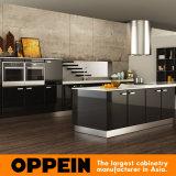 現代デザイン黒の木製のラッカー卸売のモジュラー台所食器棚(OP15-L15)
