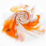 Покрашенный рукой Merino шарф шерстей