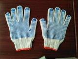 7g PVC colorido pontos no Palm Luvas de malha de algodão