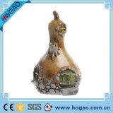カスタマイズされたHalloweenの装飾の樹脂の頭骨の置物