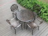 China Outdoor Patio Alumínio Brown Bar Mesa de jantar Chair Leisure Garden Furniture