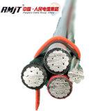 0.6/1kvアルミニウムケーブル4倍サービスドロップ・ケーブルのXLPEによって絶縁されるオーバーヘッドコンダクターABCケーブル