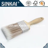 La fibra del cepillo de pintura con mango de madera duro
