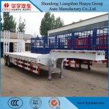50ton/60ton/70ton/80ton de Oplegger van het laag-Bed van de capaciteit