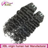 Capelli brasiliani del tessuto di estensione dei capelli umani della cuticola piena