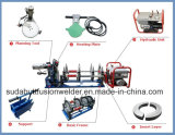 Máquina hidráulica da solda por fusão da extremidade do HDPE do Sul 160mm para a tubulação