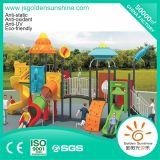 Terrain de jeux extérieur de l'équipement de divertissement en plastique de la diapositive avec la CE/certificat ISO