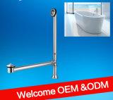China-Hersteller-preiswerte nützliche Badezimmer-flexible Chrom-Abfluss-Wannen-überschüssiges Rohr für Badewanne