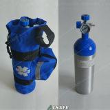 O alumínio pequena mochila e tanques de oxigênio portáteis