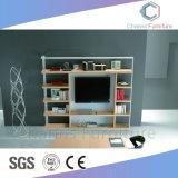Casa moderna oficina Muebles de madera de estantería para rack de TV de pantalla (CAS-FC1819)