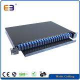 1U de montaje en rack 19'' de fibra óptica Patch Panel adaptadores SC