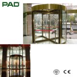 4-Wing Revolving Door System with Automatic Control Links