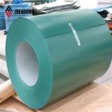 El color verde cubrió la bobina de aluminio (AE-35B)