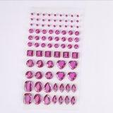 Рождество мелочь наклейку ослабление Rhinestone лицевой стороной на наклейке клей Diamond акриловые наклейки (TP-127)