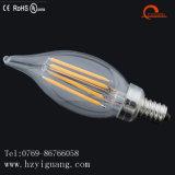 Bulbo de filamento LED da vela de cauda para luz de teto
