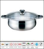 Cookware basso del POT dell'acciaio inossidabile