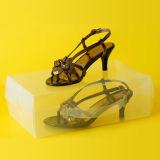 أحذية بلاستيكيّة شفّافة يعبر صندوق (واضحة [بفك] [شو بوإكس])